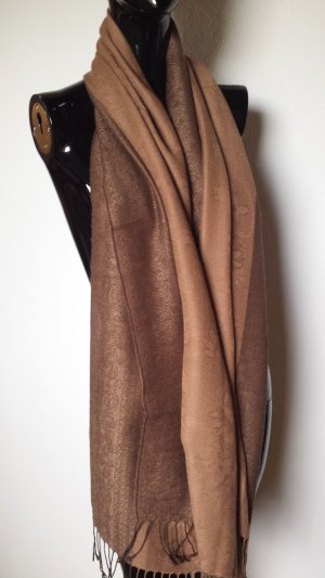Pashmina Bufanda de cachemir marrón-marrón oscuro Cachemir