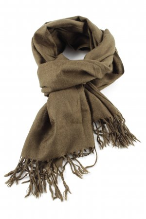 Pashmina Fringed Scarf bronze-colored casual look