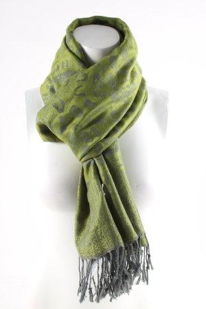 Pashmina grün Paisleymuster Casual-Look