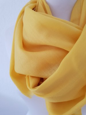 Pashmina jaune laine
