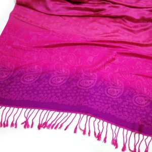 Pashmina Schal LOVELY DOTS Tuch Pink Rosa Paisley