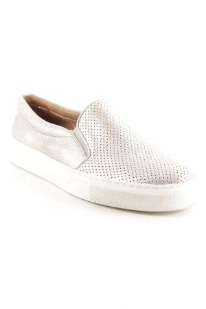 Passarella Schlüpfsneaker silberfarben-weiß Casual-Look
