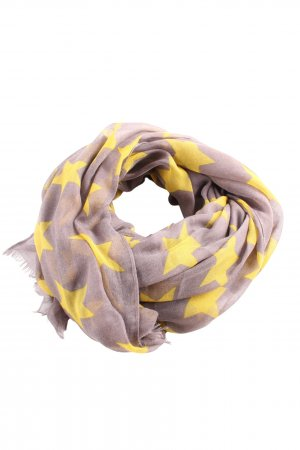 Passigatti Fringed Scarf brown-primrose abstract pattern casual look