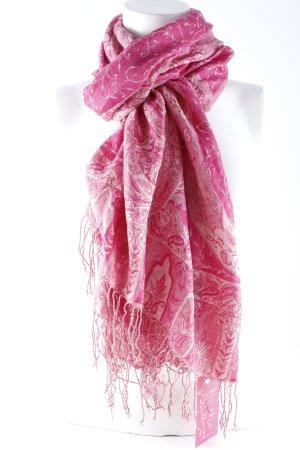 Passigatti Fazzoletto da collo magenta-rosa antico motivo floreale stile casual