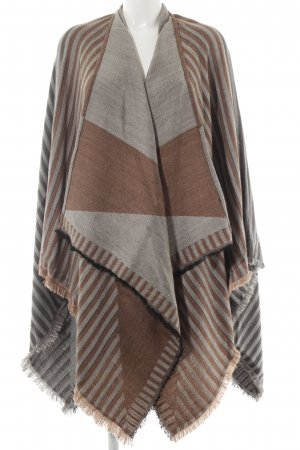 Passigatti Poncho Streifenmuster Casual-Look