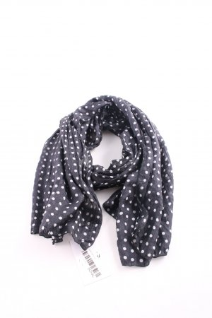Passigatti Silk Scarf black-white spot pattern business style