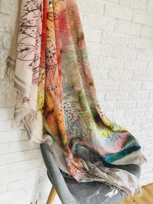 Passigatti Bufanda de flecos multicolor Algodón