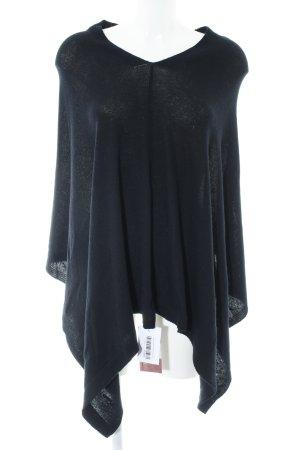 Passigatti Poncho in maglia nero stile casual