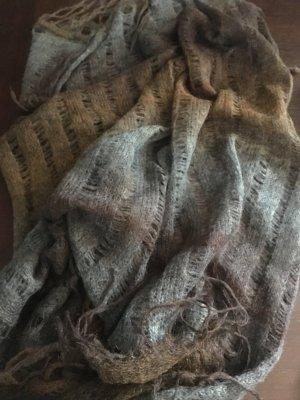 Passigatti Strickschal grau-brauner Farbverlauf