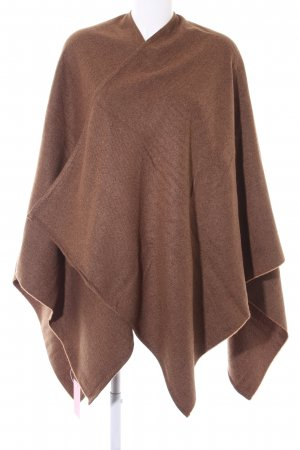 Passigatti Knitted Poncho black brown-light brown striped pattern casual look