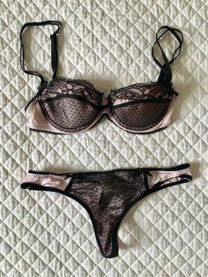 Passionata Conjunto de lencería rosa claro-negro Viscosa