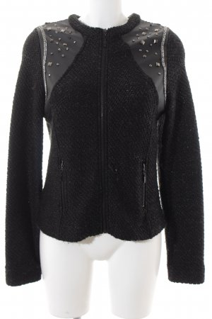Passport Cardigan schwarz Biker-Look