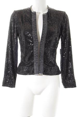 Passport Jeansjacke anthrazit-schwarz extravaganter Stil