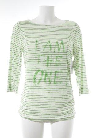 Passport Longsleeve hellgrün-weiß Streifenmuster Street-Fashion-Look