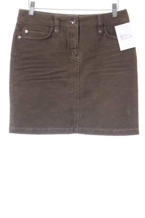 Passport Minirock braun Casual-Look