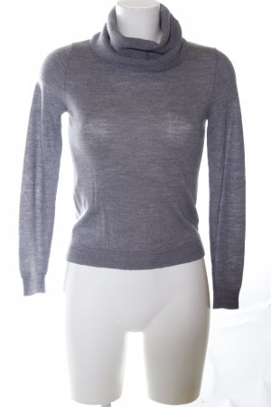 Passport Turtleneck Sweater light grey flecked casual look