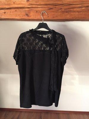 Passport shirt tshirt schwarz spitze Spitzenshirt 42 L