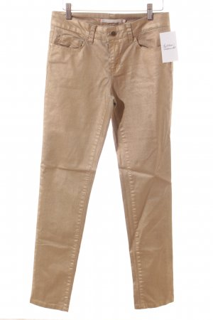 Passport Skinny Jeans goldfarben Glanz-Optik