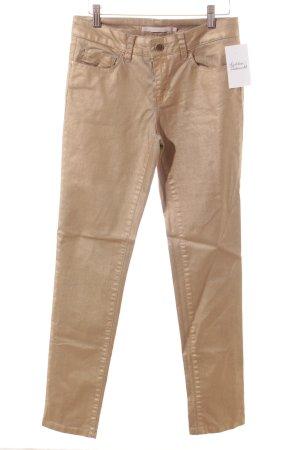 Passport Skinny Jeans goldfarben Glanz-Optik
