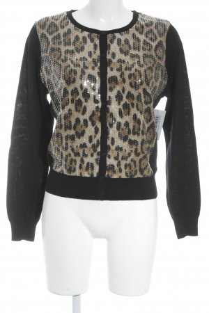 Passport Strick Cardigan Animalmuster Animal-Look