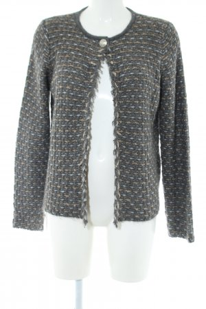 Passport Strickjacke hellgrau-creme Casual-Look