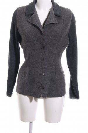 Passport Strickjacke hellgrau-schwarz meliert Casual-Look