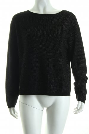 Passport Knitted Sweater black-pink spot pattern casual look