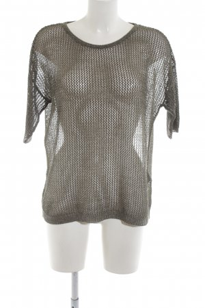 Passport Knitted Jumper light grey cable stitch casual look