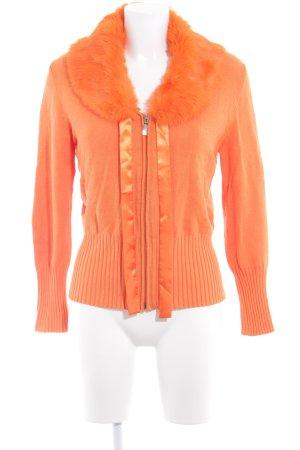 Passport Strickweste orange extravaganter Stil