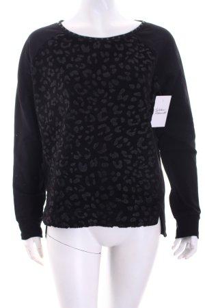 Passport Sweatshirt schwarz Animalmuster Casual-Look
