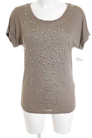 Passport T-Shirt hellbraun meliert Street-Fashion-Look