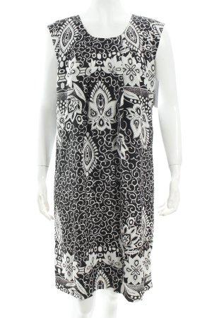 Passport Trägerkleid schwarz-weiß florales Muster Eleganz-Look