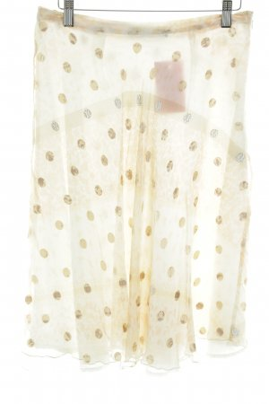 Passport Tulip Skirt natural white-brown spot pattern casual look