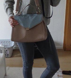Pastel Tasche Blau/Beige SIX