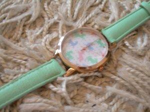 Opia Orologio con cinturino di pelle multicolore