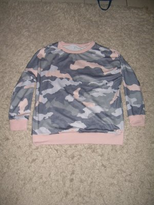pastell-farbenes Camouflage Sweatshirt Gr. XL 42 Pulli Pullover