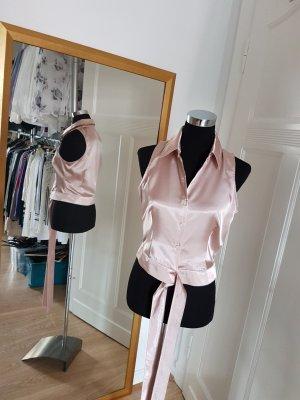 Alba Moda Mouwloze blouse stoffig roze