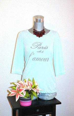 Pastell Print Pullover gr. 40/42 Türkis Blogger Style