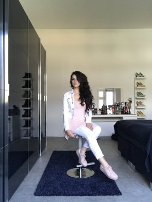 pastell rosa / altrosa plateauschuhe / sneaker