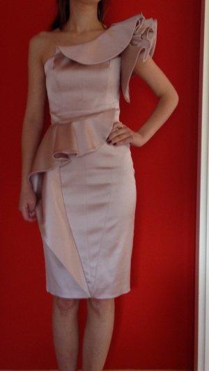 Pastell-Rosa kurzes Designer-Abendkleid |Karen Millen