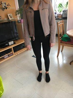 Zara Veste en cuir multicolore