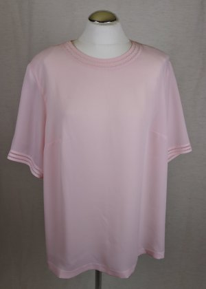Pastell Tunika Bluse Erfo Jeunesse Größe XL 46 Rose Rosa Lochspitze Rundhals Top Retro Look