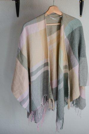 Amisu Poncho multicolored mixture fibre