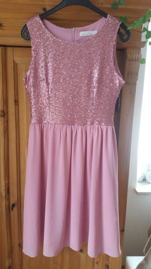 Robe à paillettes rose clair-rose