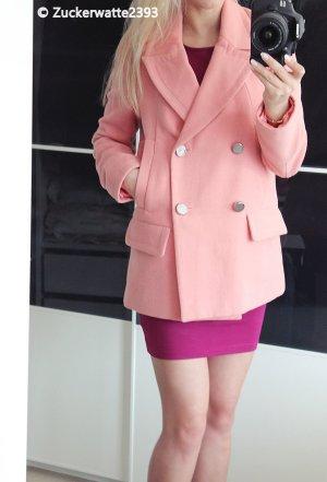 Pastellfarbiger Asos Trenchcoat Mantel Wollmantel 34/XS