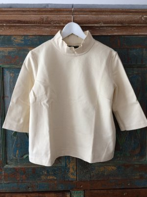 European Culture Turtleneck Shirt pale yellow