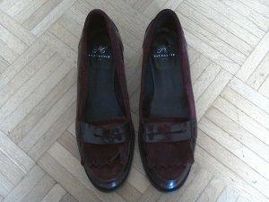 Moccasins carmine leather