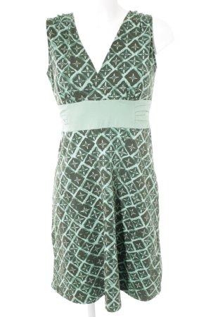 Patagonia A-Linien Kleid hellgrün-dunkelgrün florales Muster Casual-Look