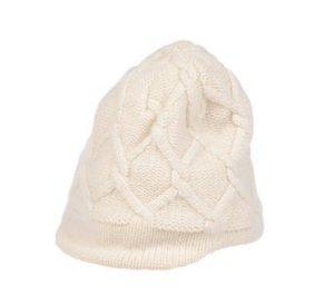 Patagonia Sombrero de punto blanco-blanco puro lana merina