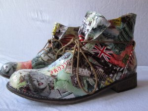 Patchwork Booties Schnürbooties America London